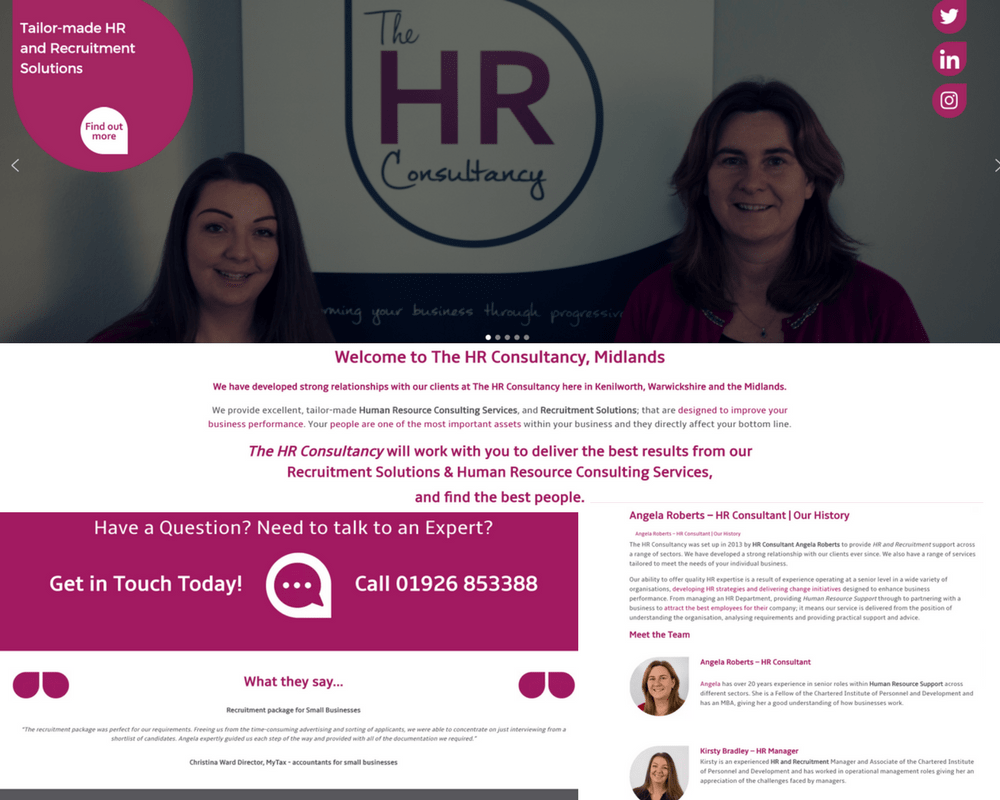 The HR Consultancy - Portfolio Feature Image