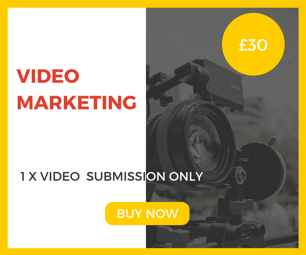 1 x Video Submission Marketing Package £30