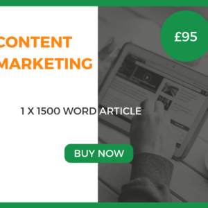 Content Marketing - 1 x 1500 Word Article - £95