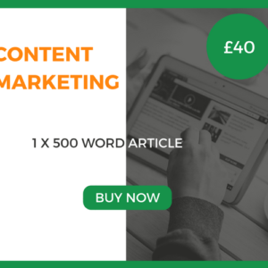 Content Marketing - 1 x 500 Word Article - £40