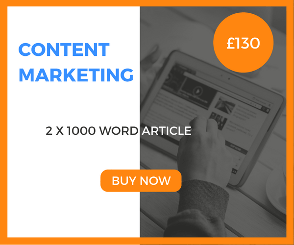 Content Marketing - 2 x 1000 Word Article - £130