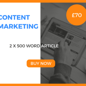 Content Marketing - 2 x 500 Word Article - £40