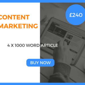 Content Marketing - 4 x 1000 Word Article - £240