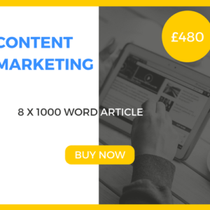 Content Marketing - 8 x 1000 Word Article - £480