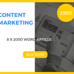 Content Marketing - 8 x 2000 Word Article - £960