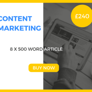 Content Marketing - 8 x 500 Word Article - £240