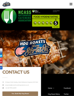 the-seo - Mac Screenshot - Scratch Cooking Caterers - Hog Roasts From Scratch Landing Page