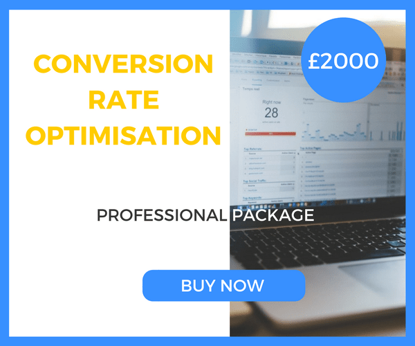 Conversion Rate Optimisation - Professional Package - £2000 Per Month