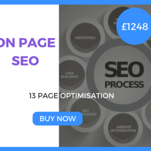 On Page SEO - 13 Page Optimisation - £1248