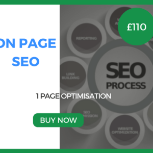 On Page SEO - 1 Page Optimisation - £110