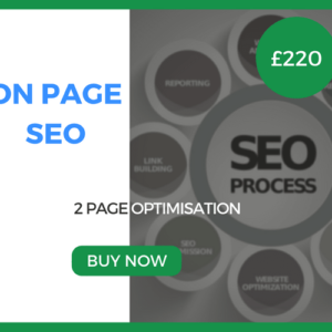 On Page SEO - 2 Page Optimisation - £220
