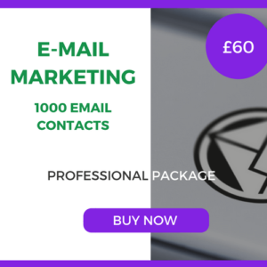 E-Mail Marketing - 1000 Emails - Professional Package - £60
