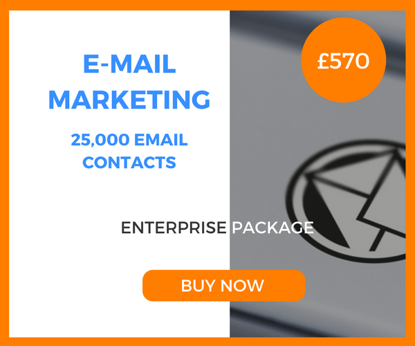 E-Mail Marketing - 25,000 Emails - Enterprise Package - £570