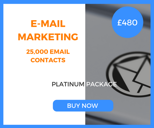 E-Mail Marketing - 25,000 Emails - Platinum Package - £480