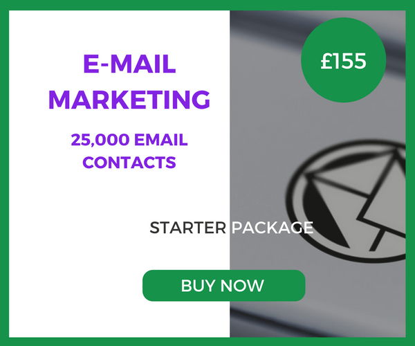 E-Mail Marketing - 25,000 Emails - Starter Package - £155