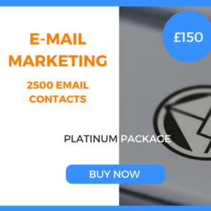 E-Mail Marketing - 2500 Emails - Platinum Package - £150