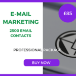 E-Mail Marketing - 2500 Emails - Professional Package - £85