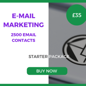 E-Mail Marketing - 2500 Emails - Starter Package - £35