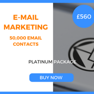 E-Mail Marketing - 50,000 Emails - Platinum Package - £560