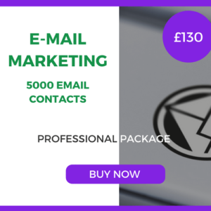 E-Mail Marketing - 5000 Emails - Professional Package - £130