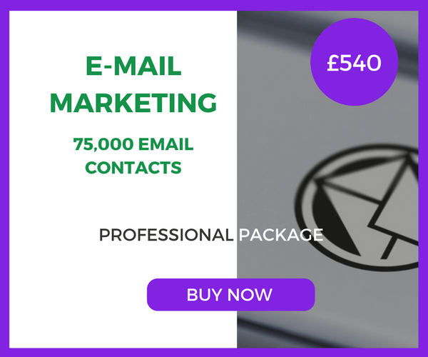 E-Mail Marketing - 75,000 Emails - Professional Package - £540