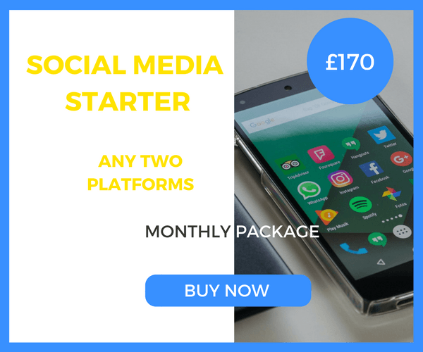Social Media Starter - Two Platforms - £170 Per Month