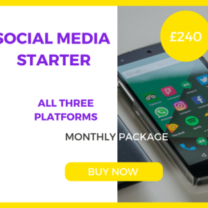 Social Media Starter - Three Platforms - £240 Per Month