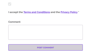 GDPR Compliance For Submitting Blog Comments