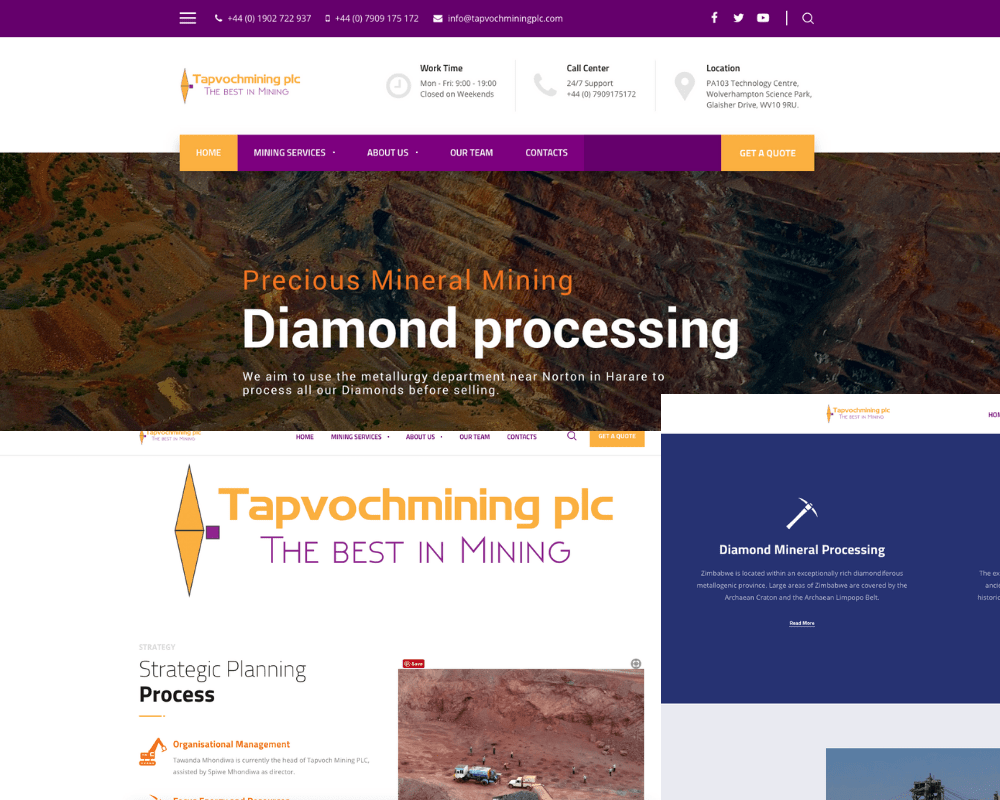 Tapvoch Mining PLC Website Images