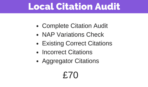 Local Citation Audit Pricing