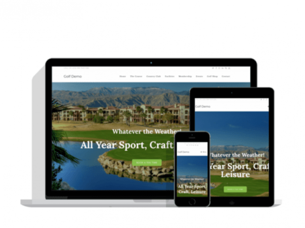 Web Design Wolverhampton, Dudley, Birmingham - Golf Demo Website
