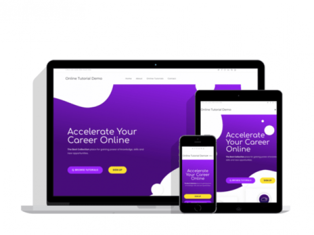 Web Design Wolverhampton, Dudley, Birmingham - Online Tutorial Website Demo