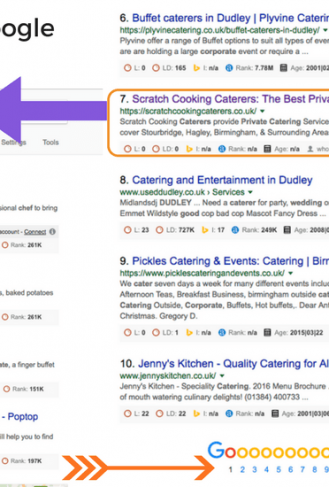 Scratch Cooking Caterers - Google Page1 - Image 1