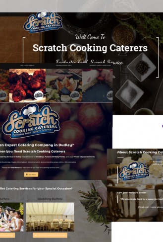 Scratch Cooking Caterers - Home Page Case Study Image